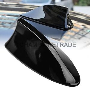 Us Black Shark Fin Style Top Roof Mount Fm Am Radio Antenna Aeria For Nissan