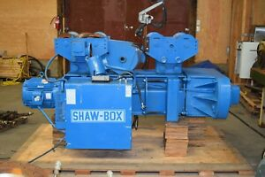 15 Ton Wire Rope Hoist With I beam Shaw box Electric Overhead Hoist 15 Ton used