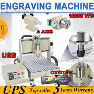 1500w Usb 4axis 6040 Cnc Router Engraver Engraving Milling mach3 Controller Usa