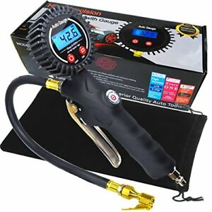 Heavy Duty Digital Tire Inflator Gauge With Accurate Digital Tire Pressure Lum