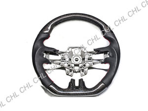 Carbon Fiber Leather Steering Wheel Frame For 2015 2018 Ford Mustang Gt
