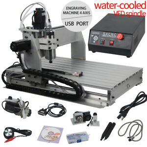 6040 Desktop 4 Axis Cnc Router Engraver Milling Machine Engraving Drilling Us