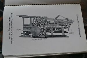 Catalogue Parts For Miehle Flatbed Presses Cylinder Press Newspaper Letterpress