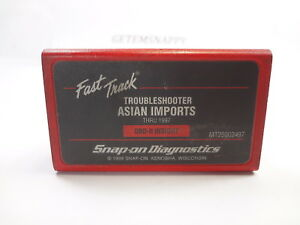 Snap On 1997 Asian Troubleshooter Cartridge Mt2500 Scanner