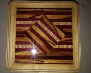 Poplar Keepsake Box With Different Exotic Woods Inlayed In Top