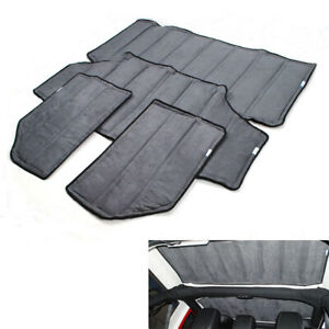 4pcs Gray Hardtop Sound Heat Insulation Kit For 2011 2018 Jeep Wrangler Jk
