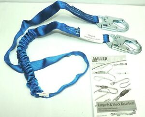 Miller Manyard 216twdls Shock Absorbing Web Lanyard 6 High Performance Blue