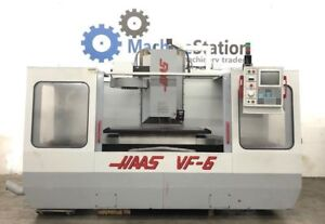 Haas Vf 6 Vertical Machining Center 7500 Rpm 20hp 4th Axis Vf6 5 7