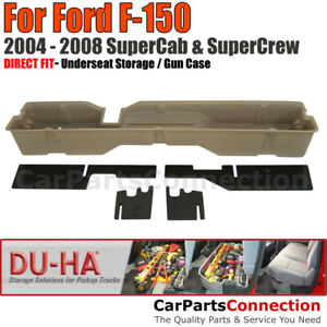 Du ha 20006 Underseat Storage For 04 08 Ford F 150 Supercab Supercrew Tan
