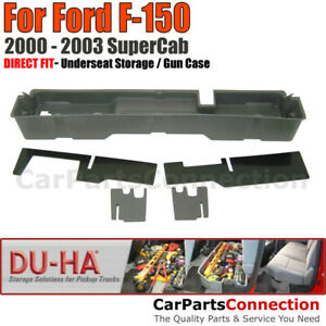 Du ha 20008 Underseat Storage Gun Case For 00 03 Ford F 150 Supercab Light Gray