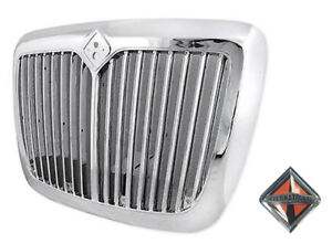 Chrome Front Grille With Bug Screen For International Prostar Trucks 2008 2016