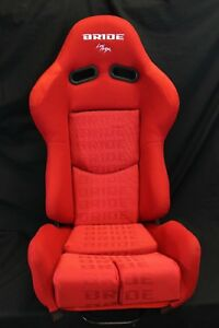 Bride Gias V1 Low Max Red Gradation Cloth Single Reclining Racing Seat W Slider