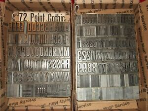 Vintage 72pt Lining Gothic Title No117 Foundry Type Letterpress Printing Antique