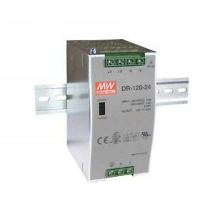 Dr 120 24 Mean Well Din Rail Power Supply 24v 5a 120w