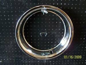 Trim Beauty Rings Chevy Corvette Rally Steel Wheels 15 X 7 Deep Dish 15x7 Gmc