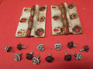 67 69 70 71 Jeepster Commando Dauntless 225 Rear Upper Hatch Lid Hinges W Bolts
