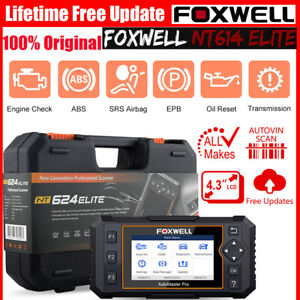 Foxwell Nt614 Car Abs Airbag Engine Transmission Epb Oil Reset Obd2 Car Scanner