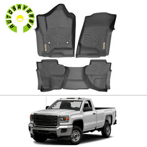 For 2014 2018 Gmc Sierra 1500 Extend Cab All Weather Floor Mats Floorliner Black