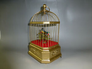 Antique German Karl Griesbaum Singing Bird Cage Music Box Automaton See Video
