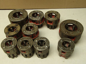 Ridgid Pipe Threading Die Set Thread Cutter Cutting 1 To 3 8