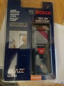 Professional Glm 30 Bosch Laser Measure 100 Foot Glm30 New