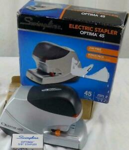Swingline Electric Stapler Value Pack 45 Sheet Capacity Optima 45 High Capacity