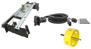 B W 2 5 16 Gooseneck Hitch W Hole Saw Curt Wiring Kit For 02 08 Ram 1500
