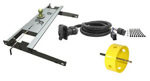 B W 2 5 16 Gooseneck Hitch W Hole Saw Curt Wiring Kit For 95 01 Dodge Ram