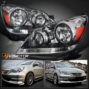 For 2005 2007 Honda Odyssey Crystal Clear Replacement Headlights Pair Left Right