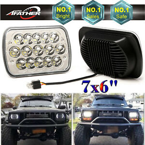 2pc 5x7 Replace Sealed Lamp Led Headlight Light For Jeep Cherokee Xj Truck Car