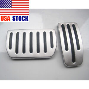 2pcs Aluminum Non Slip Performance Foot Pedal Pads For Tesla Model S And Model X