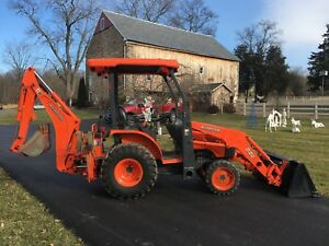 Kubota B26 Commercial Duty Tractor Loader Backhoe 26hp 4x4 Hydro 1024hrs