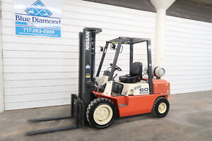 Nissan 6 000 Lp Gas Pneumatic Tire Forklift 3 Stage S s 8fgu30