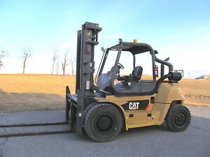 2010 Cat P17500 17 500 Diesel Pneumatic Tire Forklift S s F p 2 622 Hours