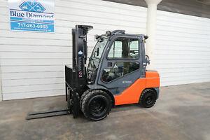 2013 Toyota 8fgu32 6 500 Pneumatic Tire Forklift Lp Gas 3 Stage Sideshift