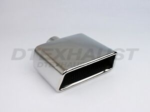 Dt 24129 Resonated Rectangular Slant Stainless Exhaust Tip 2 25 Inlet 7 Length