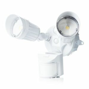 Hyperikon Led Security Light 20w 2 Head White Infrared Motion Sensor Crystal