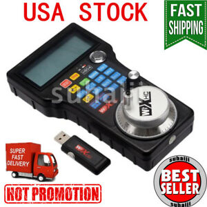 Cnc Wireless Mpg Mach3 Remote Controller Whb04 l 40m W Electronic Handwheel Usa