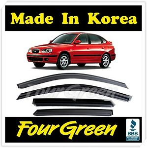 New Smoke Window Vent Visors Rain Guards For Hyundai Elantra Hatchback 2000 2005
