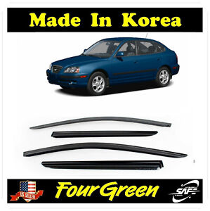 Smoke Window Sun Vent Visors Rain Guards For 2001 2006 Hyundai Elantra Hatchback