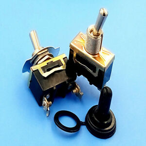 1set On Off Small Spst Toggle Switch Miniature Waterproof Cover Dc12v Useful