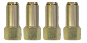 Air Suspension System 4 Brass Fittings 3 8 Npt Female To 1 4 Air Hose Push In