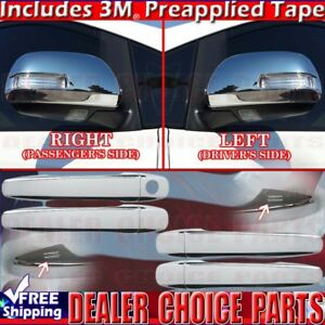 For 2011 2017 Toyota Sienna Chrome Door Handle Covers W Smrtkh Mirror W Turnsig