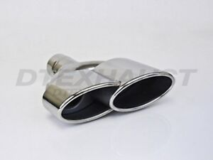 Pair Different Trends Dt 24140 L r Dual Single Wall Oval Stainless Exhaust Tip