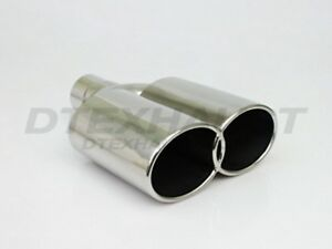 Different Trends Dt 24144 Dual Single Wall Oval Rolled Stainless Exhaust Tip