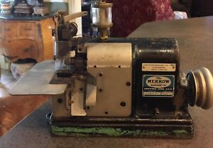 Antique Merrow Sewing Machine Co Style 60 d3b
