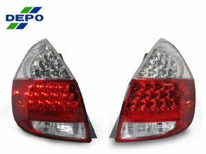 Depo Jdm No Error Led Red Clear Tail Lights For 2007 2008 Honda Fit Jazz Gd3