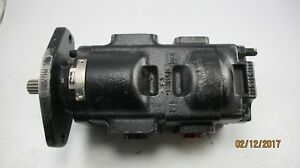 Parker Tandem Hydraulic Pump 7020120037 332 135609 Spline Shaft New