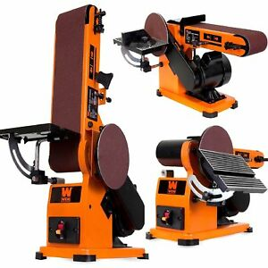 New Bench Belt Disc Wood Sander Top Combination Electric Work Shop Table Machine