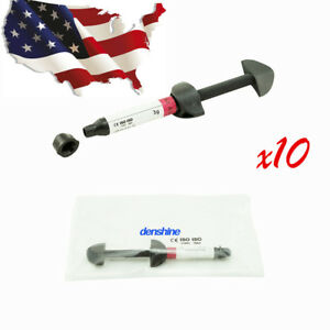 10x Dental Resin Light Cure Micro Hybrid Composite Syringe Curing Light Resin Ce